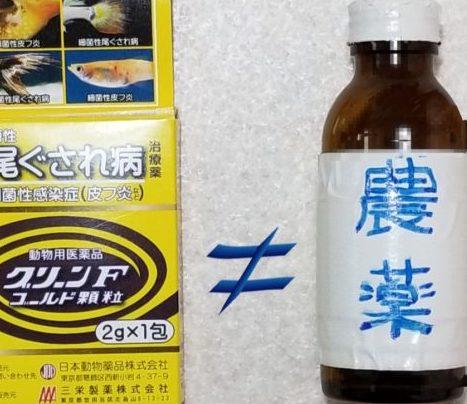 GFG顆粒と農薬はノットイコール